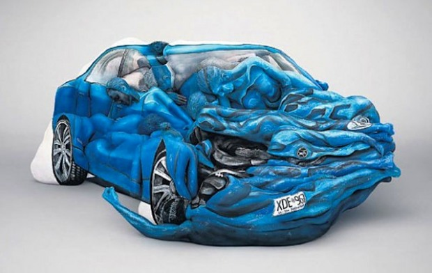 Cars-Motorbikes-made-Body-Painted-People-1