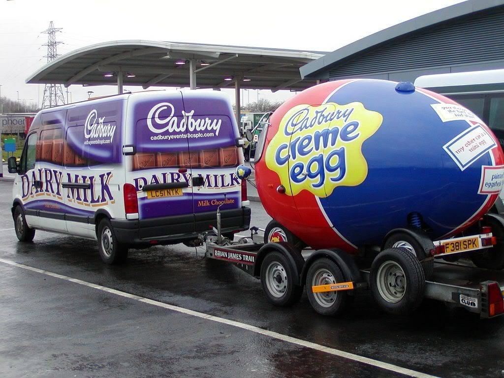 Creme Egg being Towed for ALA GAP Insurance