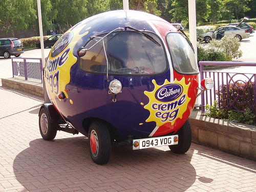 Creme Egg Car for ALA GAP Insurance