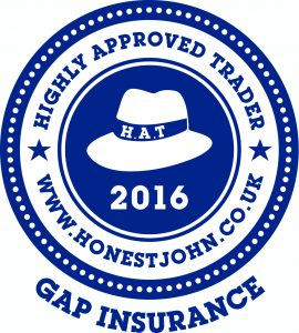 Gap Insurance HAT Badge - Blue on White