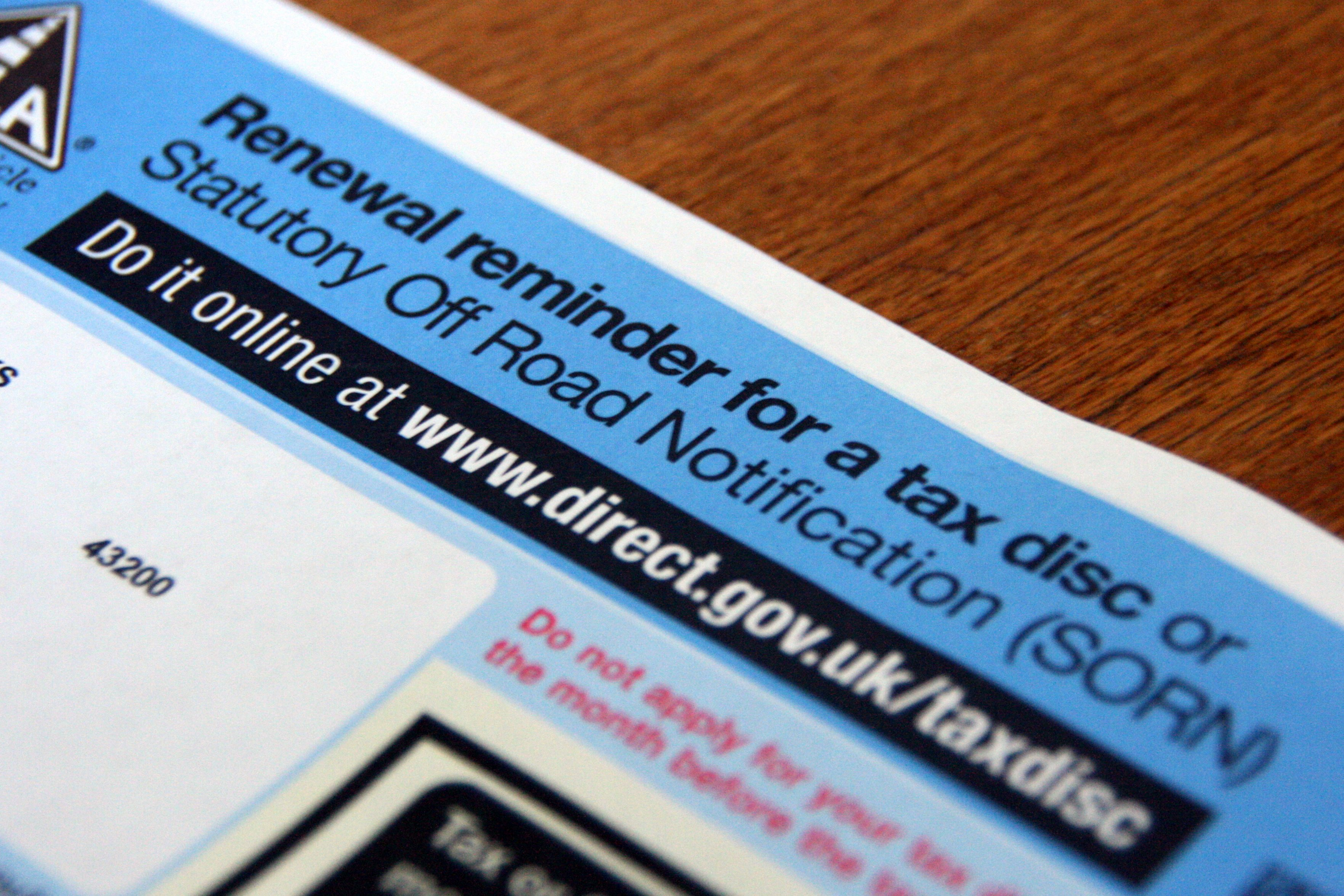 Car tax reminder