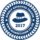 Named Highly Approved Trader by Honest John